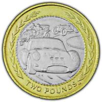 ISLE OF MAN 1998 £ 2 POUND COIN - VINTAGE CAR RALLY (CIRCULATED)