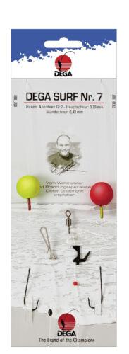 DEGA Surf Nr 7 Brandungsvorfach Plattfisch Buttvorfach Buttsystem