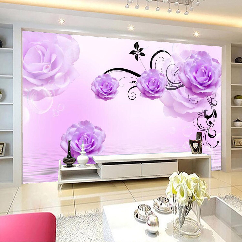 3D lila Petals 61 Wallpaper Murals Wall Print Wallpaper Mural AJ WALL AU Lemon