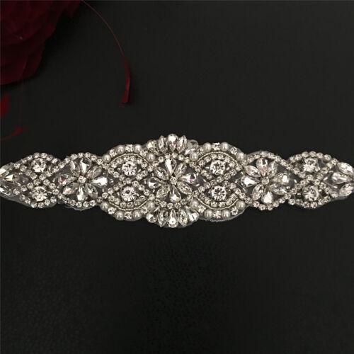 Perlenbesetzt Motiv Diamant Brautkleid Diy Applikation Strassstein Perlen
