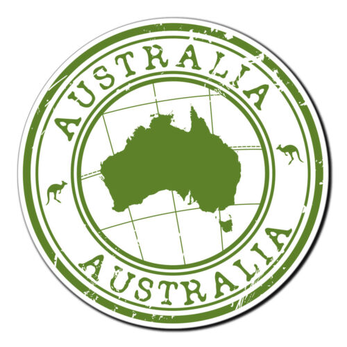 2 x Glossy Vinyl Stickers Australia Kangaroo Travel Fun Laptop Decal #4008