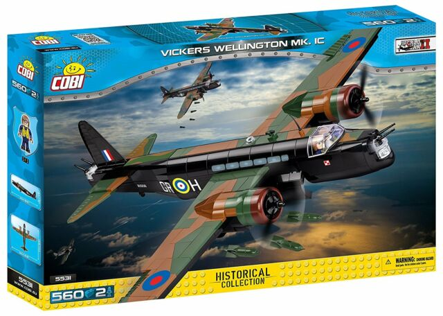 COBI SMALL ARMY WWII - 5531 - VICKERS WELLINGTON MK.1C - NEUF