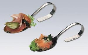CHG-Haeppchenloeffel-Probierloeffel-Gourmetloeffel-Vorspeiseloeffel-Fingerfood-6Stueck