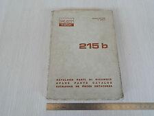 MANUALE ORIGINALE CATALOGO RICAMBI TRATTORE FIAT 215 B 215B 1968