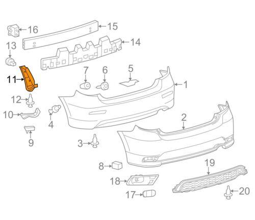 For Toyota Genuine Bumper Seal Rear Left 5259202160