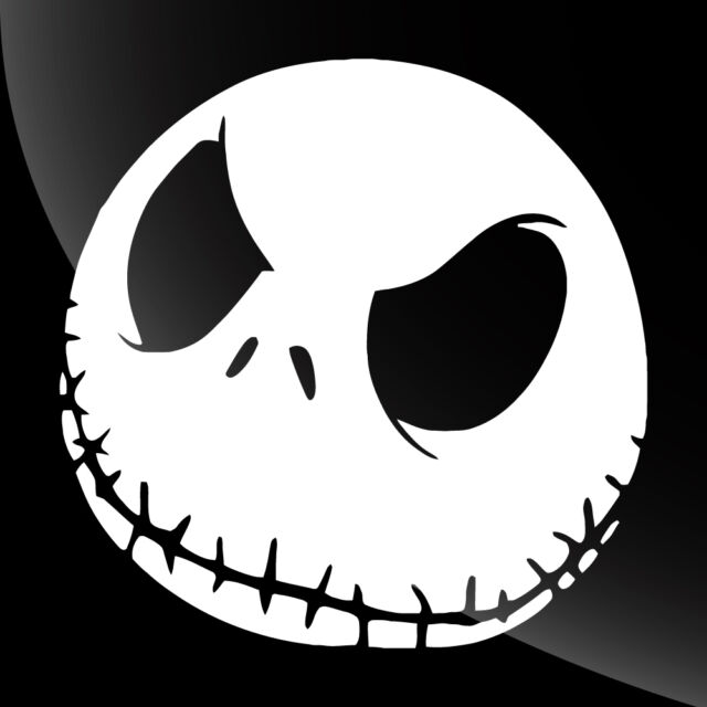 Jack Skellington Face Decal Sticker - TONS OF OPTIONS 4 ...