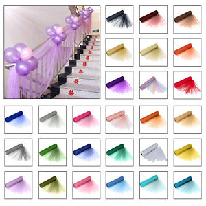29-cm-x-25-m-Organza-Sheer-Roll-Sash-Mariage-Fete-D-039-Anniversaire-Chaise-BOW-Table-Runner