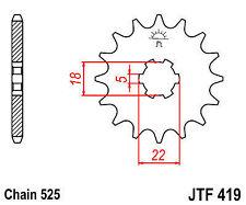 SUZUKI TM400 TS400 TS250 R J K L M 70-76 15 TOOTH FRONT SPROCKET 419-15 PATTERN