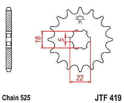 SUZUKI GT250 K L M A B C DS250 73-77 15 TOOTH FRONT SPROCKET 419-15 PATTERN