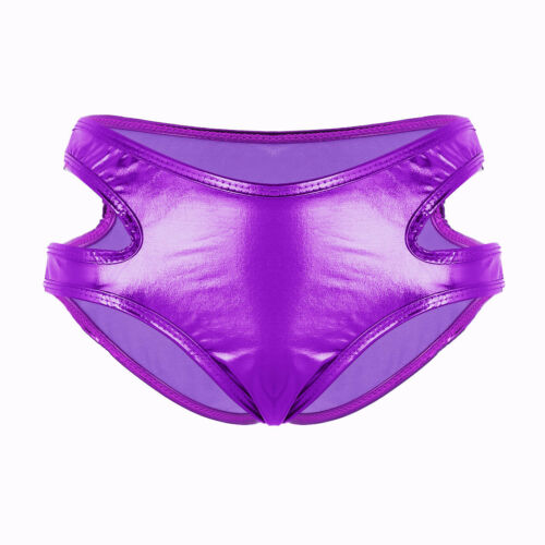 Shiny Panties Ladies Hollow Mini Briefs Strappy Bikini Booty Shorts Party Bottom