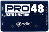 Radial Pro48 Active Guitar/bass (w/48v Phantom Power) Di Direct Box