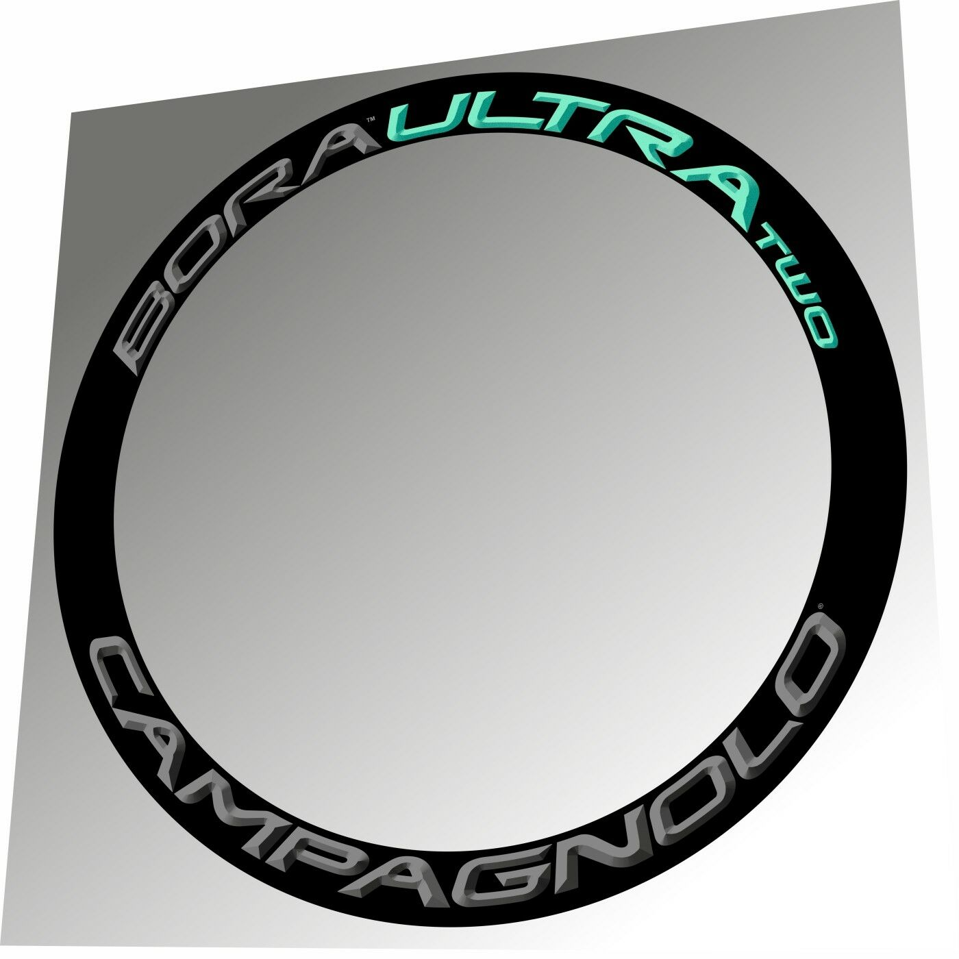 CAMPAGNOLO BORA ULTRA TWO DARK   CELESTE 3D DESIGN RIM DECAL SET FOR 2 RIMS