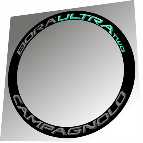 CELESTE 3D DESIGN RIM DECAL SET FOR 2 RIMS CAMPAGNOLO BORA ULTRA TWO DARK