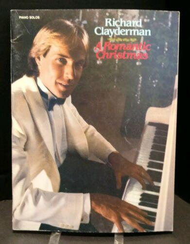 A Romantic Christmas Sheet Music Book Piano Solos 1980/'s Richard Clayderman T64