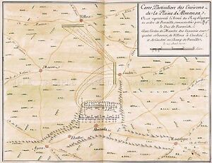MAP-ANTIQUE-ANON-1709-PLAN-BATTLE-ALMANSA-OLD-LARGE-REPLICA-POSTER-PRINT-PAM0526