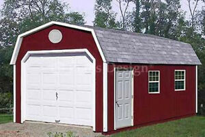 Details about 12' x 24' Garage Building / Storage Shed Barn Roof Style  Plans, Design #31224
