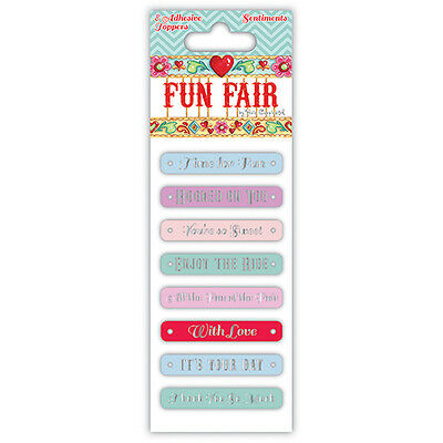 BEAUTIFUL FUN FAIR SENTIMENT TOPPER EMBELLISHMENTS BY HELZ CUPPLEDITCH