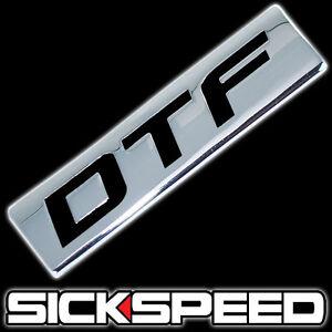 CHROME//BLACK METAL SICKSPEED ENGINE RACE MOTOR SWAP BADGE FOR TRUNK HOOD DOOR