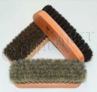 Shoe Shine Brush Polish Applicator 100% Horsehair Wood Handle All Sizes & Colors
