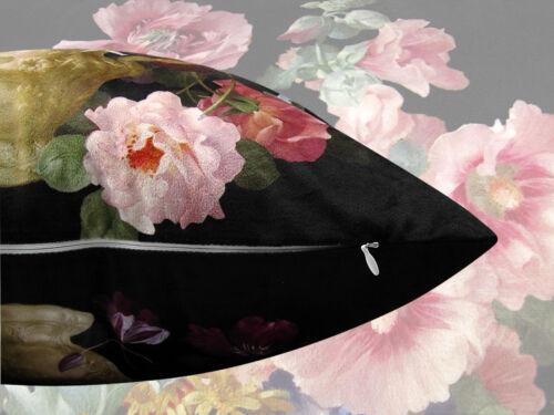 New Elegant Decorative Velvet Flower Floral Pillow Cover Double Sides Pillow cas