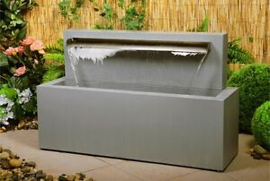 Image Is Loading Blade Jet Waterfall Water Feature Cascade Modern Stainless