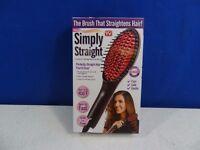 Simply Straight Ceramic Styling Brush As Seen On Tv Hair Straightener