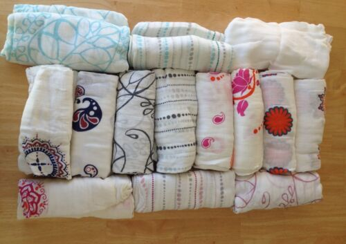 """Aden and Anais Bamboo Swaddle Blanket Boutique 47/"""" x 47/"""" Many Patterns NEW"""
