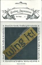Wing it! Lasting Impressions Embossing Stencil Brass Template S510 New
