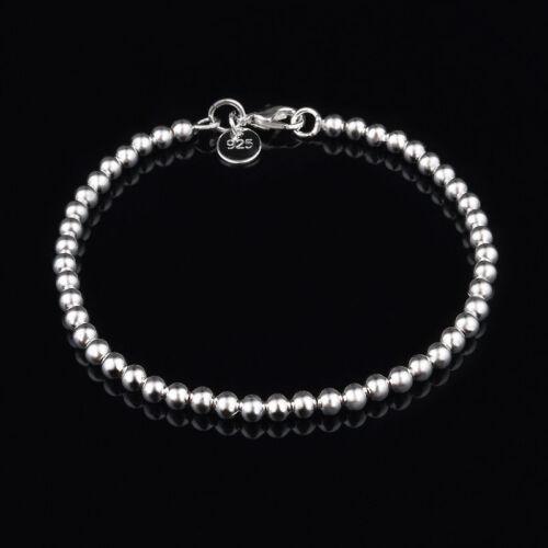 NEW CUTE sterling Silver Plated Fashion Bead women Chain Bracelet jewelry