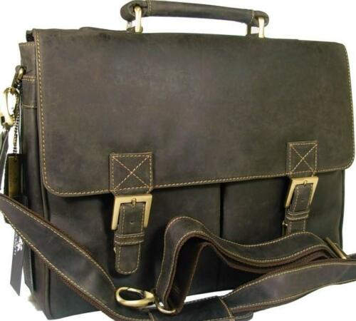 Schwarz New Braun Tan Visconti Leder Aktentasche Berliner Hunter Style Vintage Oil r1v8xqUzrn