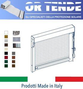 Aimable Zanzariera Verticale Per Finestre, Su Misura, Mod. A Catena, Prodotte A Milano Correspondant En Couleur