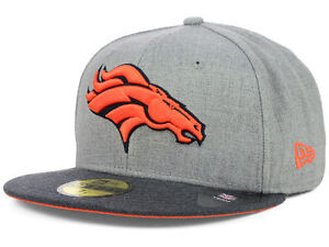 Official Denver Broncos New Era 59FIFTY Fitted Hat NFL Heather 2 ... a57d51cfb