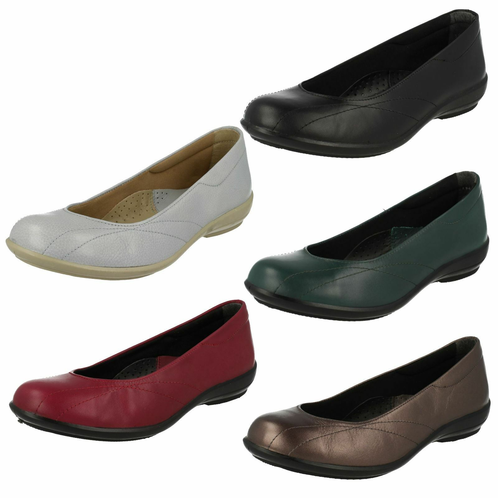 Easy B Wide Fitting Flat Ladies Shoes Honiton