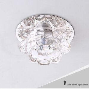 Image Is Loading 3w Modern Flower Crystal Aisle Lamp Led Ceiling
