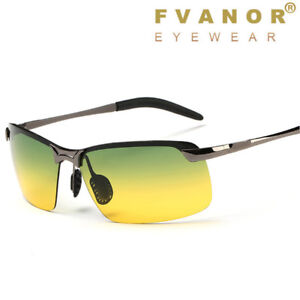 33fec22a22b Image is loading Sunglasses-Polarized-Day-amp-Night-Vision-Driving-Glasses-