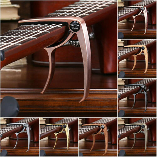 Quick Change Grain Clamp Key Capo Spring For Acoustic Electric Guitar Bass  X