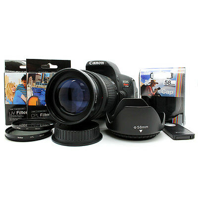 Telephoto Zoom Lens KIT for Canon EOS Rebel DSLR Camera T6i T3i T3 T5i T5 58MM