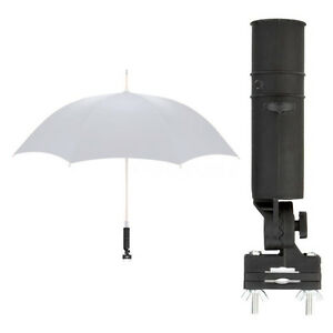 Golf-Club-Fit-Cart-Car-Trolley-Pushchairs-Umbrella-Holder-Black-FANTASTIC-FT