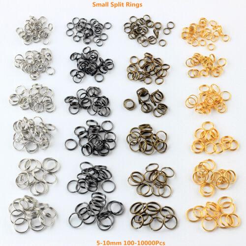Lot de Split Open Double Loop Jump Rings 5-10 mm 4 Color 100-10000Pcs