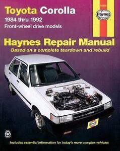 haynes manuals toyota corolla fwd 1984 1992 by john haynes 1985 rh ebay com 1995 Toyota Corolla DX Wagon 1994 Toyota Corolla Wagon