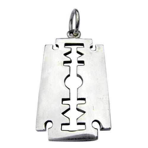 Razor  Blade  Pendant   ! 925 Sterling Silver Brand  New !!