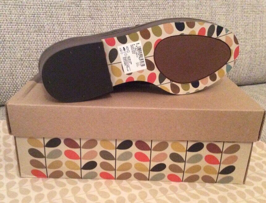 Zapatos de cuero Orla Kiely Clarks, negro de Agatha cocodrilo Agatha de Mock en tamaño 5.5, 39 euros 5f6b63