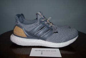 Details about adidas Mens Ultra Boost 3.0 LTD BB1092 Grey Gray Leather cage khaki tan linen