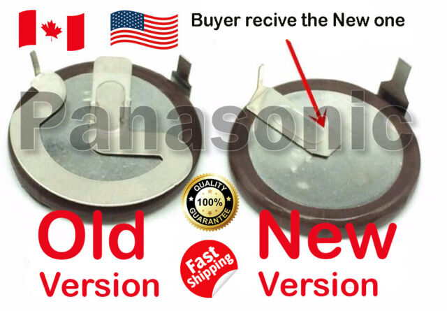 2-Pack Rechargeable Battery Lithium Coin 3V 20MM 90 Degree Tab VL2020 ML2020