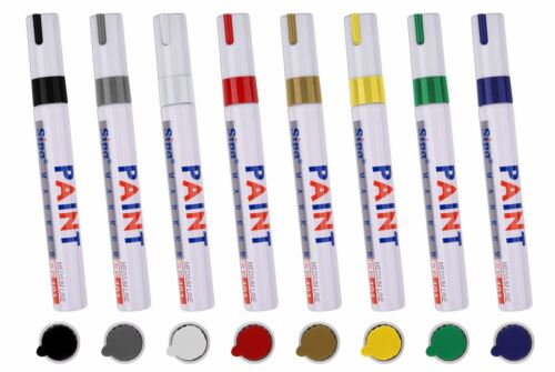 PERMANENT Car Tyre Tire Metal Outdoors Oil Based MARKER PEN