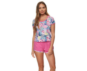 d3c8f96f4e645 Pickles & Loop Women's Floral Print Cotton Jersey Pyjama Short Set ...
