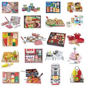 Details About Kids Role Play Children Learning Toys Food Kitchen Sets Melissa Doug