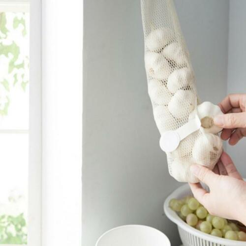 Breathable Wall Handle Onion Garlic Hanging Storage Bag Net Vegetable Kitchen RE