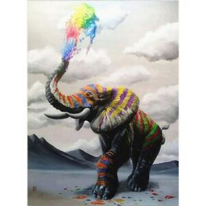 Full-Drill-5D-Diamond-Painting-Decor-Colored-Nose-Elephant-Embroidery-Kits-Gifts