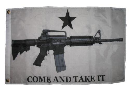 2x3 White Come and Take it flag AR-15 M4 Machine Gun Flag 2/'x3/' House Grommets